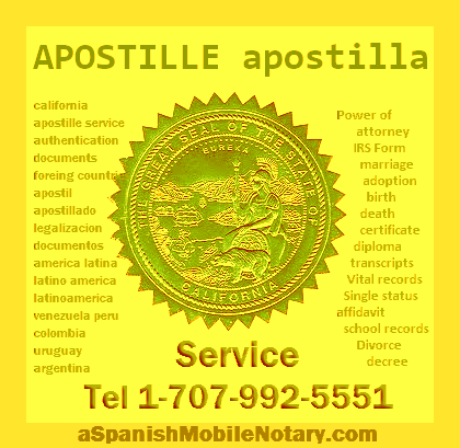 Apostille Certification USA Spanish Translation Sacramento